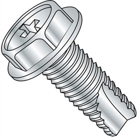 8-32X1/2  Phillips Indented Hex Washer Thread Cutting Screw Type 23 Full Thrd Zinc, Pkg of 10000
