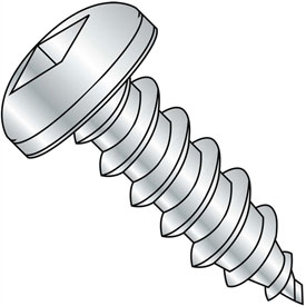 #8 x 1-1/4 Square Pan Self Tapping Screw Type A Fully Threaded Zinc Package of 4000 by