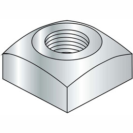 1-8 Regular Square Nut Zinc, Package of 50 by