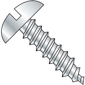 #10 x 3/4 Slotted Round Self Tapping Screw Type A Fully Threaded Zinc Bake Package of 6000 by