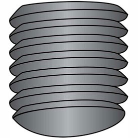10-32X3/16  Fine Thread Socket Set Screw Oval Point  Plain Imported, Pkg of 50