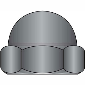 1/4-20 Two Piece Low Crown Cap Nut Black Zinc, Package of 2000 by