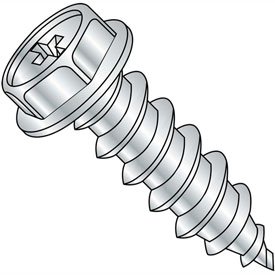 5/16X3  Phillips Indented Hex Washer Self Tapping Screw Type A Fully Threaded Zinc B, Pkg of 200
