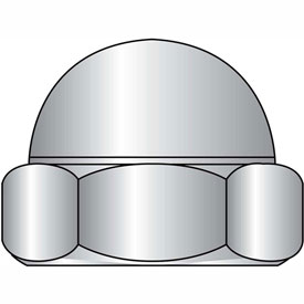 1/2-13 Low Crown Hex Cap Nut 18 8 Stainless Steel, Package of 100 by