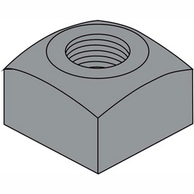 3/4-10 Heavy Square Nut Plain, Package of 100 by
