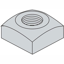 3/4-10 Regular Square Nut Hot Dipped Galvanized, Package of 100 by