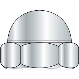3/4-16 Two Piece Low Crown Cap Nut Nickel Plated, Package of 100 by