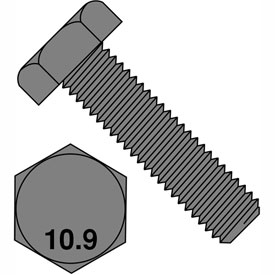 M16X40  Din 933 10.9 Metric Fully Threaded Cap Screw Plain, Pkg of 100