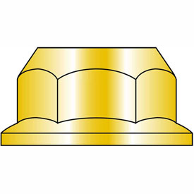 M8-1.25 Din 6923 Metric Class 10 Hex Flange Nut Zinc Yellow, Package of 1500 by