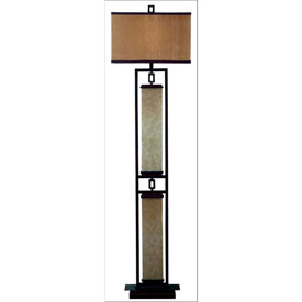 "Kenroy Lighting, Plateau Floor Lamp, 30742ORB, Oil Rubbed Bronze Finish, Metal & Glass, 8""L by"