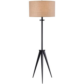 """Kenroy Lighting, Foster Floor Lamp, 32263ORB, Oil Rubbed Bronze Finish, Metal, 18""""L by"""