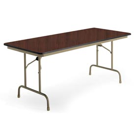 "KI Folding Table - Laminate - 30""W x 72""L - Brighton Walnut - Premier Series"