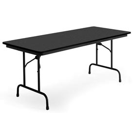 "KI Folding Table - Laminate - 24""Wx72""L - Graphite Nebula - Heritage Series"