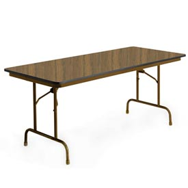 "KI Folding Table - Laminate - 36""Wx72""L - English Oak - Heritage Series"