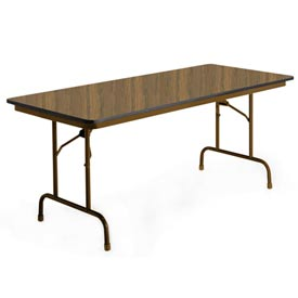"KI Folding Table - Laminate - 36""W x 96""L - English Oak - Premier Series"