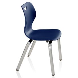 Intellect Wave Classroom 4-leg Chair - Starlight Silver frame and Nordic shell
