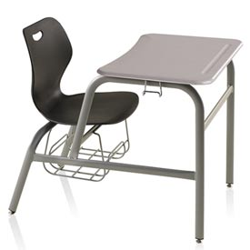 Intellect Wave Combination Desk Chair Black Seat White Nebula ABS Top by