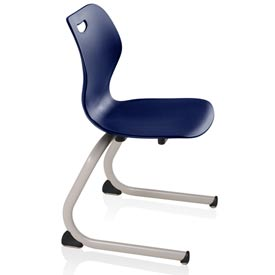 Intellect Wave Cantilever Chair - Starlight Silver frame and Nordic shell