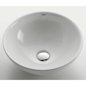 Kraus KCV-141 White Round Ceramic Sink