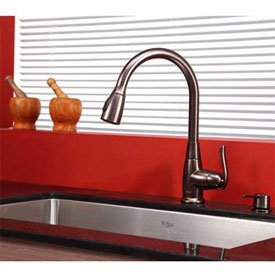"Kraus KHU100-30-KPF2230-KSD30ORB 30"" Undermount Single SS Sink W/ORB Finish, Faucet & Soap Dispenser"