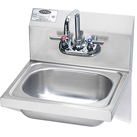 "Krowne HS-10 16"" Wide Hand Sink with Side Support Brackets by"
