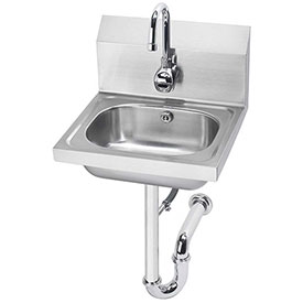 "Krowne HS-12 16"" Wide Hand Sink with Electronic Faucet and P-Trap by"