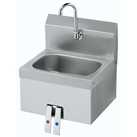 "Krowne HS-15 16"" Wide Hand Sink with Knee Valve by"