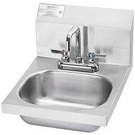"Krowne HS-18 16"" Wide Hand Sink with Deck Mount Faucet by"
