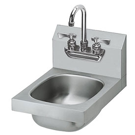 "Krowne HS-21 12"" Wide Hand Sink with Heavy Duty Faucet by"