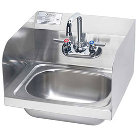 """Krowne HS-26L 16"""" Hand Sink with Side Splashes Compliant by"""
