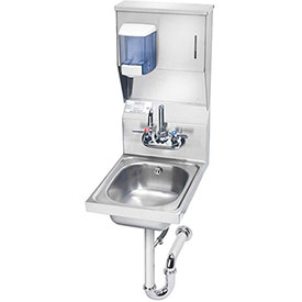 "Krowne HS-31 - 12"" Wide Space Saver Hand Sink with Soap & Towel Dispenser Compliant"
