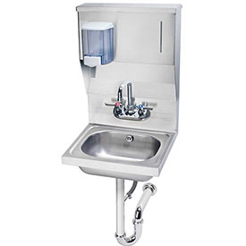 "Krowne HS-7 - 16"" Wide Hand Sink with Soap & Towel Dispenser"
