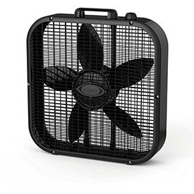 "Lasko B20401 Decor Colors 20"" Box Fan with Save-Smart, 3-Speed, 110V, Black by"