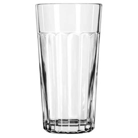 Libbey Glass 15645 Jumbo Cooler Glass 24 Oz., Glassware, Paneled Tumblers, 12 Pack by