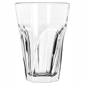 Libbey Glass 15754 Beverage Glass 14 Oz., Glassware, Gibraltar Twist, 12 Pack by