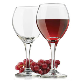 Libbey Glass 3014 Wine Glass Perception Clear Red 13.5 Oz., 24 Pack by