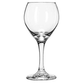 Libbey Glass 3056 Wine Glass Perception Clear Red 10 Oz., 24 Pack by