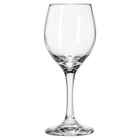 Libbey Glass 3065 Wine Glass 8 Oz., Perception Clear White, 24 Pack by