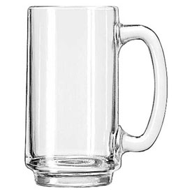 Libbey Glass 5012 Beer Glass, Mug 12.5 Oz., Clear, 24 Pack by
