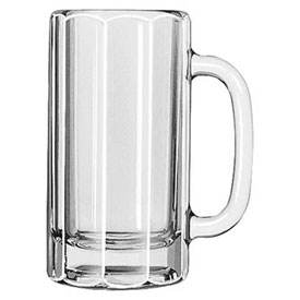 Libbey Glass 5016 Beer Glass, Mug Paneled Clear 12 Oz., 12 Pack by