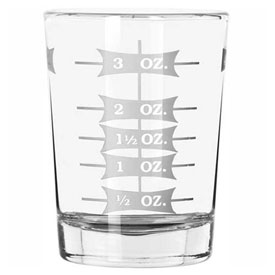 Libbey Glass 5134/1124N Measuring Glass 4 Oz., Glassware, Measuring Glasses, 12 Pack by