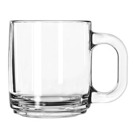 Libbey Glass 5201 Glass Coffee Mug 10 Oz., Stacking, 12 Pack by
