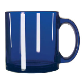 Libbey Glass 5213B Glass Coffee Mug Blue Cobalt 13 Oz., 12 Pack by