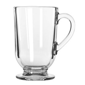 Libbey Glass 5304 Glass Coffee Mug Irish Clear 10.5 Oz., 12 Pack by