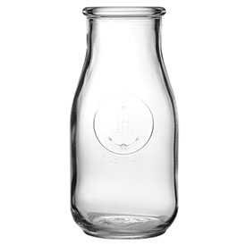 Libbey Glass 70355 Heritage Bottle 7.5 Oz., Glassware, Farmhouse, 24 Pack by