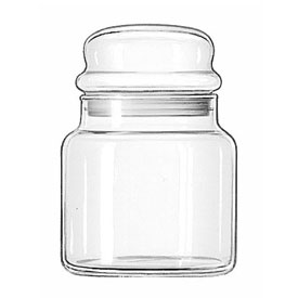 Libbey Glass 70996 Storage Jar #16, 22 Oz., 12 Pack by