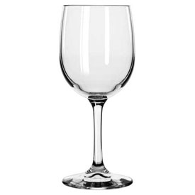 Libbey Glass 8564SR Wine Glass Bristol Valley 8.5 Oz., Clear White, 24 Pack by