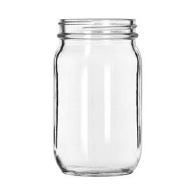 Libbey Glass 92104 Drinking Jar 8 Oz., Glassware, Infusion, 12 Pack by