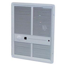 TPI Fan Forced Wall Heaters With Summer Fan Switch HF3315T2SRP - 3000/2250/1500/1125W 240/208V Ivory
