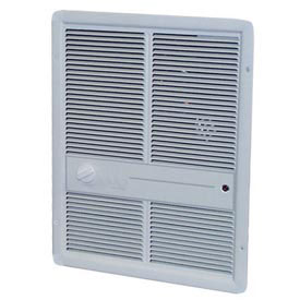 TPI Fan Forced Wall Heater HF3315TRPW - 3000/2250/1500/1125W 240/208V White